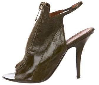 Givenchy Eel Skin Peep-Toe Pumps