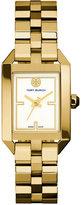 Tory Burch Women's Swiss Dalloway Gold-Tone Stainless Steel Bracelet Watch 23x35mm TRB1100