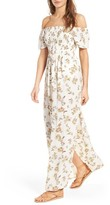 Socialite Women's Smocked Off The Shoulder Maxi Dress