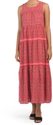 Sleeveless Tiered Maxi Dress