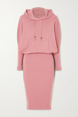 Tom Ford Hooded Ribbed Cashmere-blend Dress - Pink