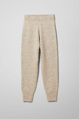 Weekday Amba Knitted Joggers - Brown