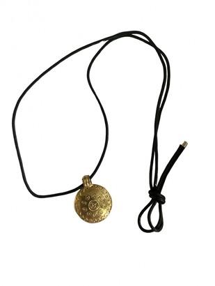 Saint Laurent Gold Metal Necklaces
