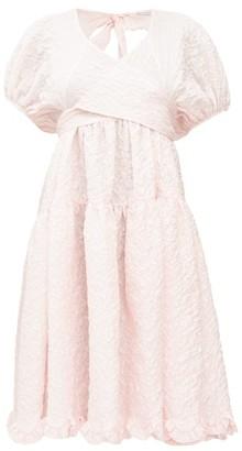 Cecilie Bahnsen Ammi Wrap-front Cloque Dress - Pink
