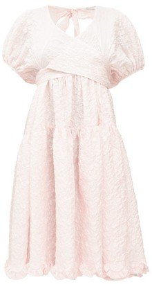 Cecilie Bahnsen Ammi Wrap-front Cloque Dress - Womens - Pink