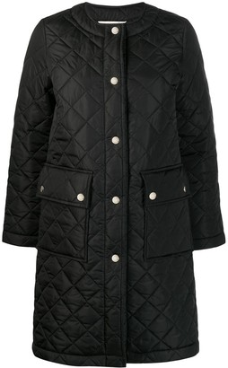 MACKINTOSH HUNA Black Quilted Nylon Coat   LQ-1006