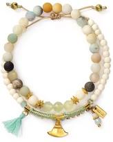 Chan Luu Matte Multi Amazonite Mix Bracelet, Set of 2