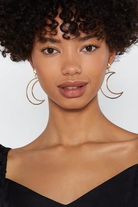 Nasty Gal Womens Moon River Star Stud Drop Earrings - Metallics - One Size