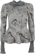 Lanvin Silver-tone Brocade Flared Top