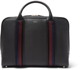 Paul Smith Webbing-trimmed Full-grain Leather Briefcase - Black