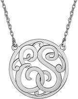 JCPenney FINE JEWELRY Personalized 25mm Round Cutout Monogram Necklace
