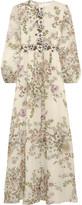 Giambattista Valli Appliquéd Floral-print Silk-georgette Gown - Ivory