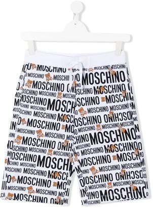 Moschino Kids TEEN logo drawstring shorts