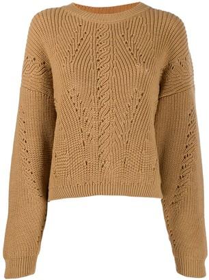 Alberta Ferretti slouchy round neck sweater