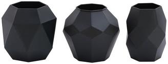 Uma Enterprises Modern Reflections Metal Vases, 3-Piece Set, Dark Gray