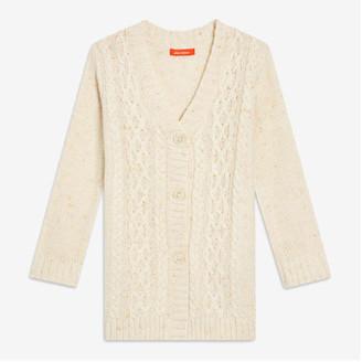 Joe Fresh Toddler Girls' Cable Knit Cardi, Off White (Size 2)