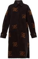 Fendi Monogrammed Shearling Coat - Womens - Black Multi