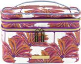 Tartan + Twine Coral Palm Double Zip Train Case