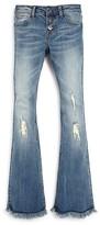 Hudson Girls' Farrah Distressed Flared Jeans - Sizes 7-16
