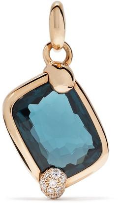Pomellato 18kt rose gold Ritratto topaz & diamond pendant