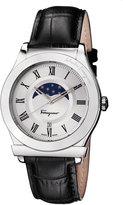 Salvatore Ferragamo 40mm 1898 Sport Men's Moon Phase Watch w/ Leather Strap, Black