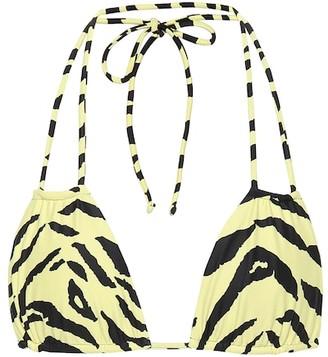 Saint Laurent Zebra-print bikini top