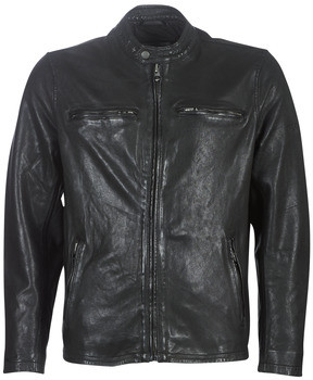 Pepe Jeans DANNYS men's Leather jacket in Black