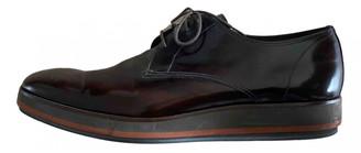 Prada Brown Leather Lace ups