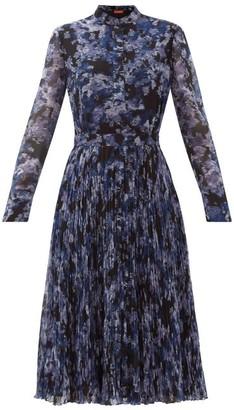 Altuzarra Ikat-print Georgette Midi Dress - Blue Print