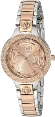 Versus By Versace Women's Claremont Gold Quartz Watch with Two-Tone-Stainless-Steel Strap 106 (Model: VSP480718)