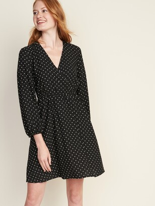 Old Navy Waist-Defined Wrap-Front Dress for Women