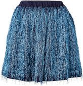 Julien David Cotton Blend Fringed Skirt