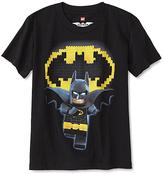 Bioworld Black LEGO Batman Tee - Boys