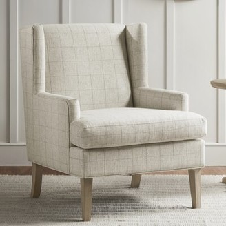 Martha Stewart Decker Wingback Chair Upholstery Color: Beige