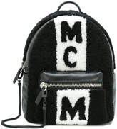 MCM shearling panel backpack