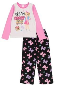 AME JoJo Big and Little Girls 2 Pieces Fleece Set