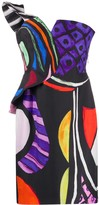 Moschino Abstract Print Cold-Shoulder Dress