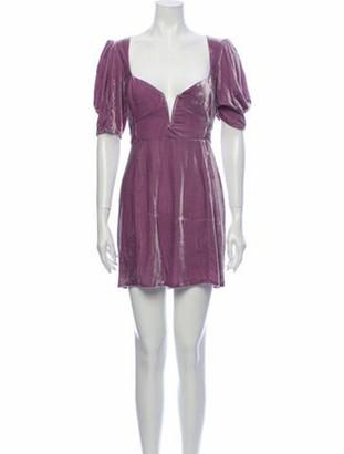 For Love & Lemons Plunge Neckline Mini Dress w/ Tags Purple