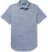 Calvin Klein Collection Relic Gingham Cotton Shirt