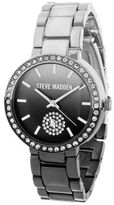 Steve Madden Gradient Dial and Stone Chainlink Watch