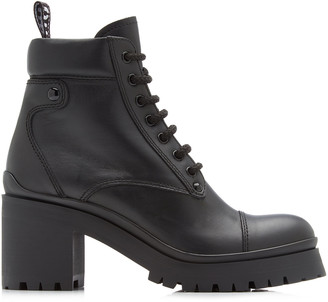 Miu Miu Leather Lace-Up Boots