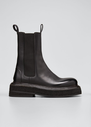 Marsèll Leather Gored Chelsea Booties