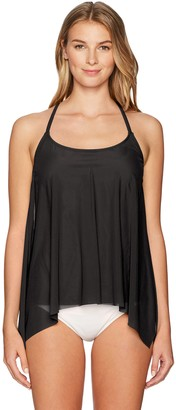 CoCo Reef Women's Tankini Top Swimsuit with Mesh Layer Detail