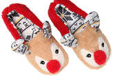 Kensie Women's Holiday Reindeer Slipper