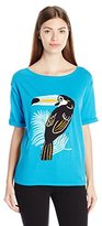 Juicy Couture Black Label Women's Sweater Toucan Intarsia Pullover