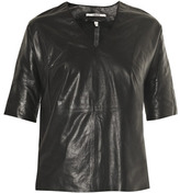 J Brand Jane leather T-shirt