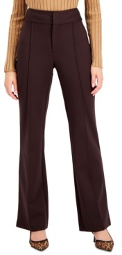INC International Concepts Inc Petite Silky Ponte-Knit Flare-Leg Pants, Created for Macy's