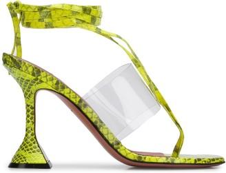 Amina Muaddi Zula snake print sandals