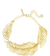 Oscar de la Renta Palm Leaf Necklace