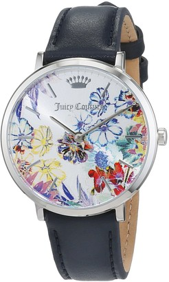 Juicy Couture Womens Analogue Classic Quartz Watch with Leather Strap 1901455